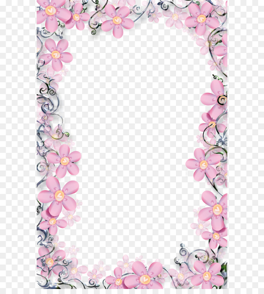 flower picture frame floral frame template picture png download