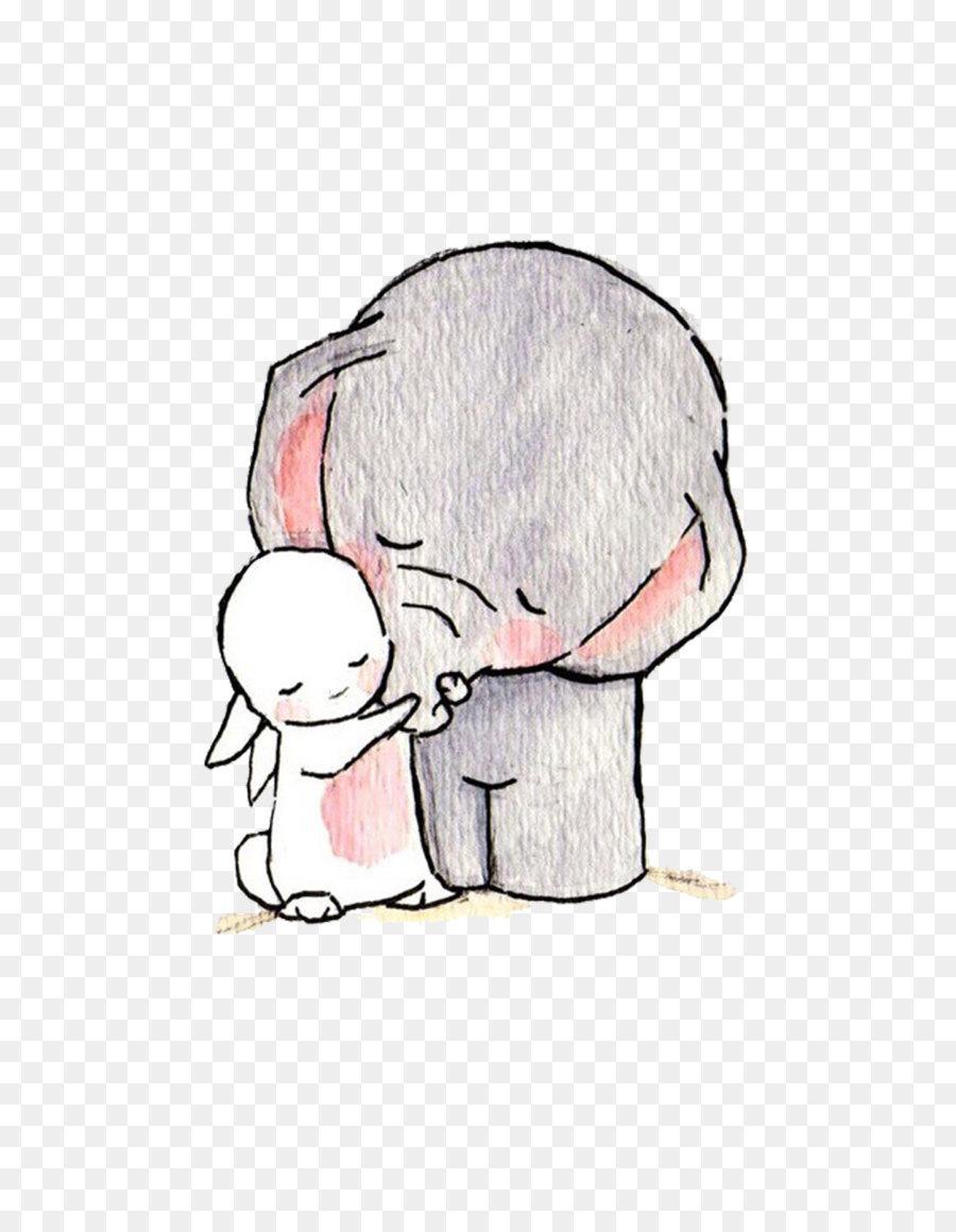 Fil çizim Duvar Kağıdı El Boyaması Hayvan Resimleri Png Indir