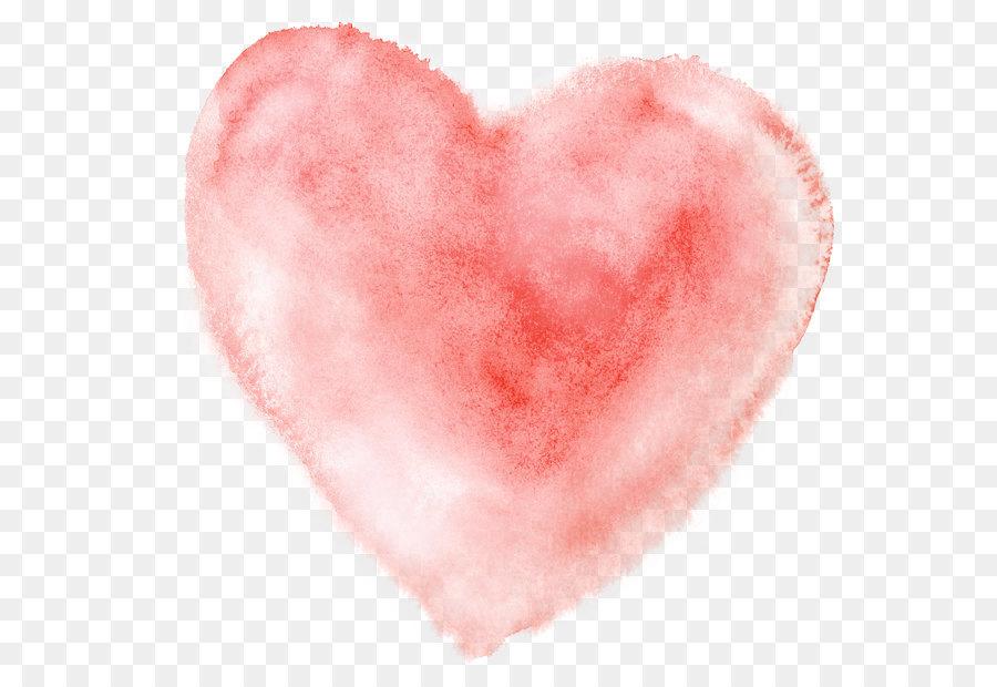 Watercolor heart. Cartoon png download free
