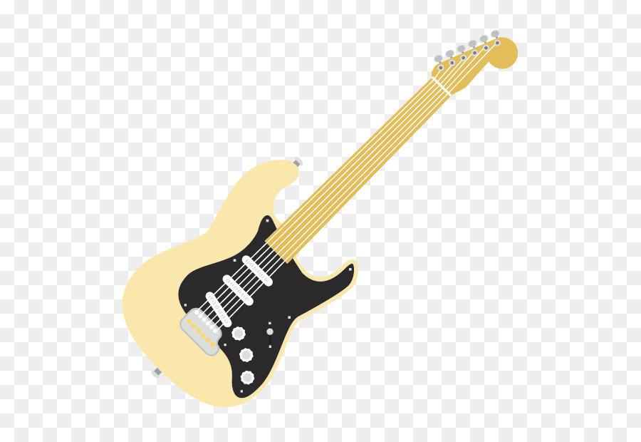 Elektro Gitar Bas Gitar Enstrüman Fender Stratocaster Karikatür