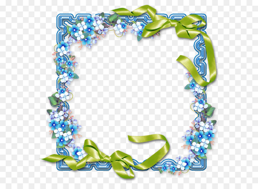 icon blue flowers frame border png download 10241024