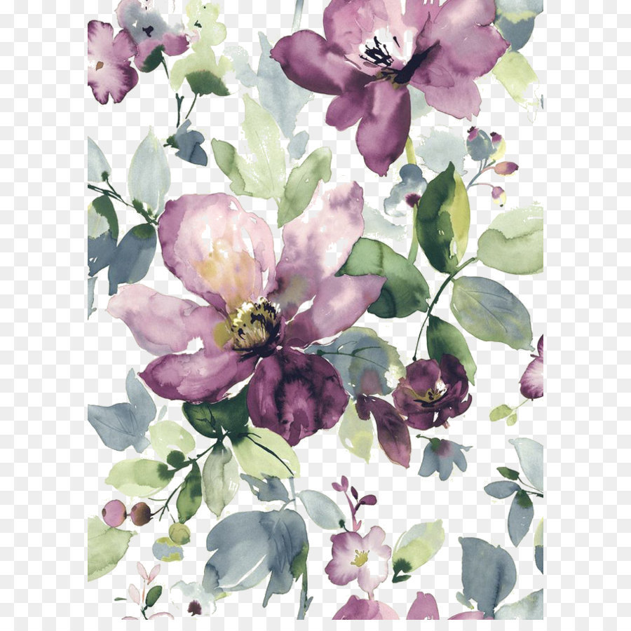 Watercolor Painting Watercolour Flowers Floral Design Wallpaper