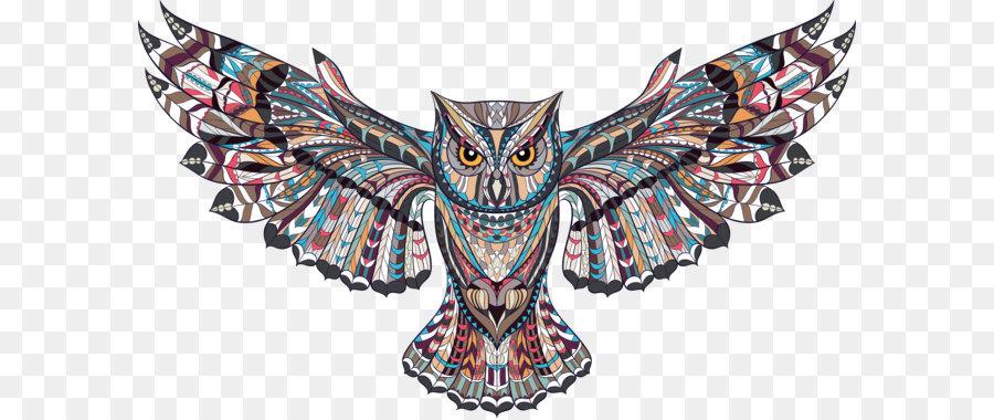 Owl Euclidean Vector Illustration