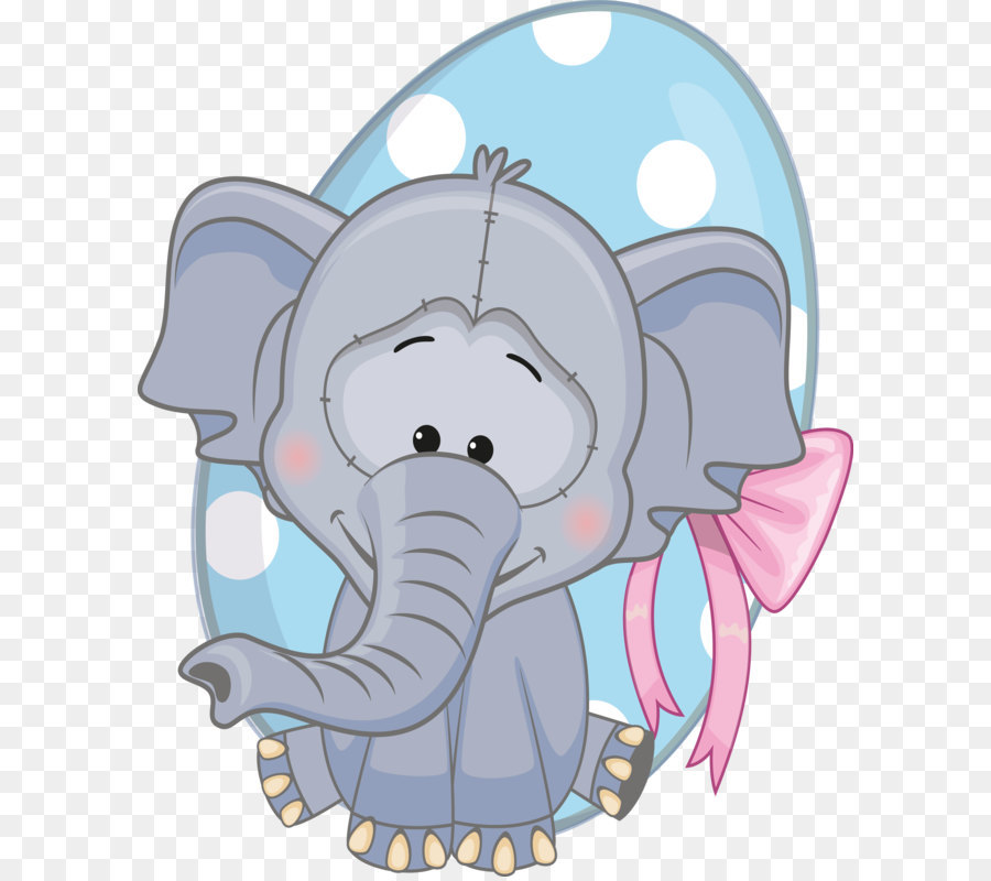 Gajah Kartun Clip Art Kartun Tersenyum Hewan 27223335 Transparan