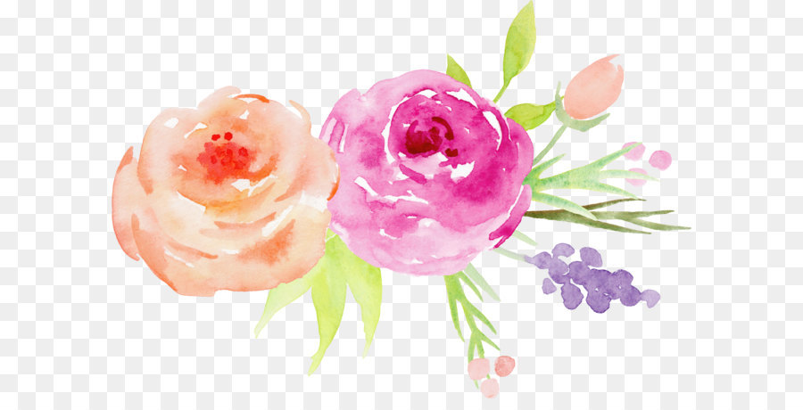 flower watercolor painting garden roses hand painted watercolor