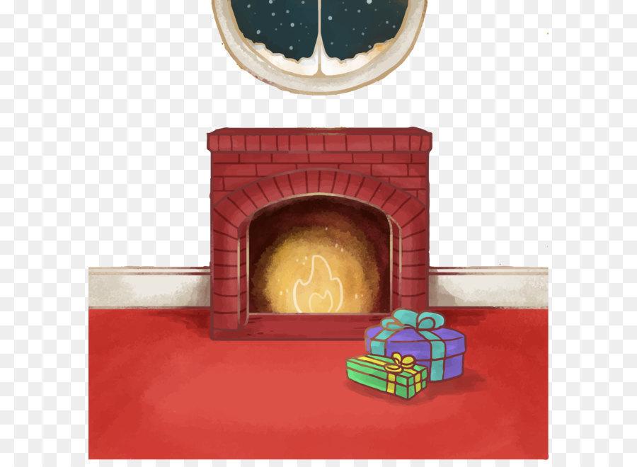christmas chimney fireplace furnace drawing vector christmas