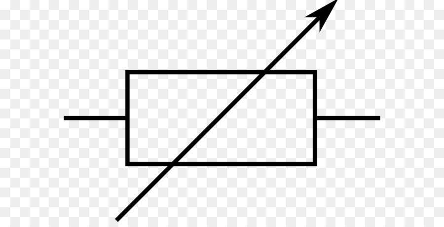 Resistor Potentiometer Electronic symbol Electronic circuit - Simple ...