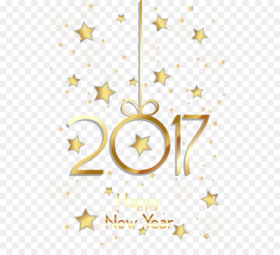 New Year Computer file - Happy New Year Vector Star Poster png ...