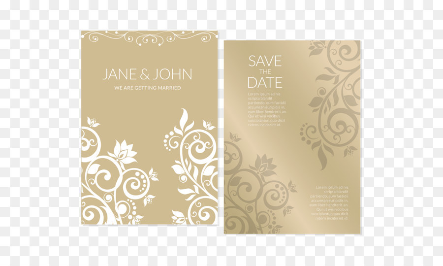 Wedding invitation marriage flower gold invitations vector png wedding invitation marriage flower gold invitations vector stopboris Gallery