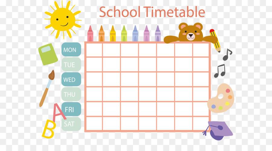 school timetable schedule template clip art