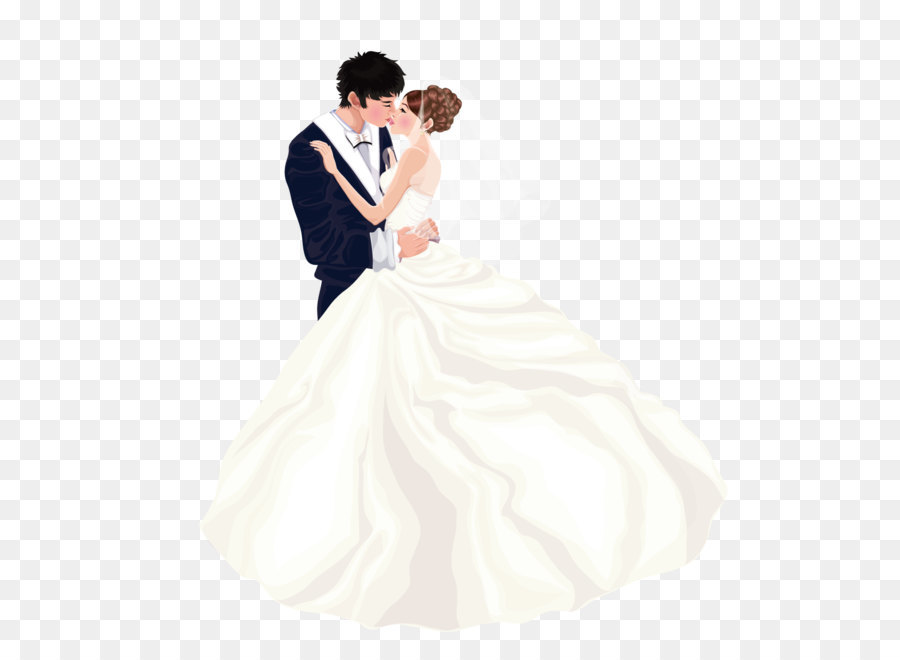 Bride Wedding dress Marriage couple - Wear wedding couple kissing ...