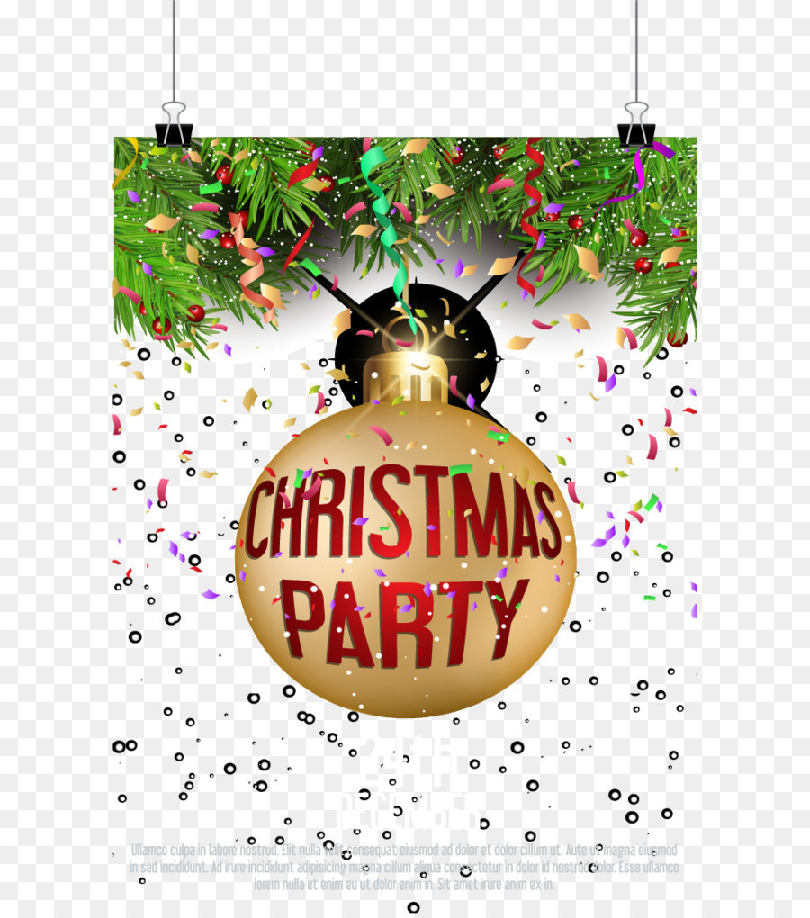 Christmas ornament Party - Flash Christmas party invitations png ...