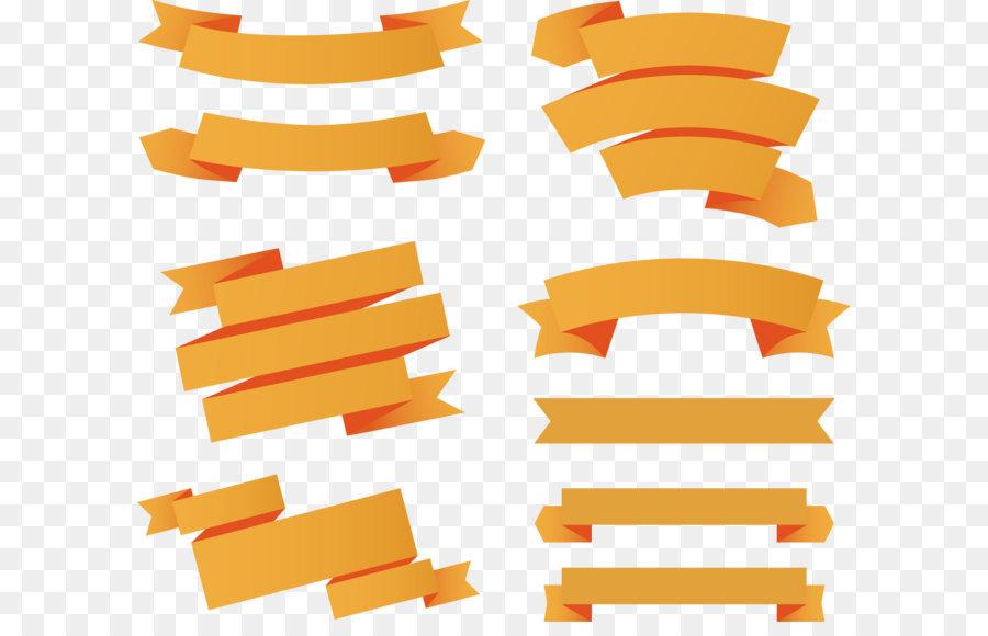 paper ribbon web banner euclidean vector 9 orange ribbon banner rh kisspng com ribbon banner vector free download ribbon banner vector image
