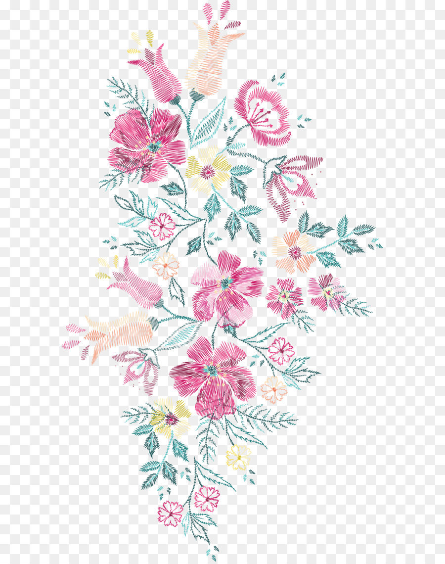 flower embroidery euclidean vector floral design soviet