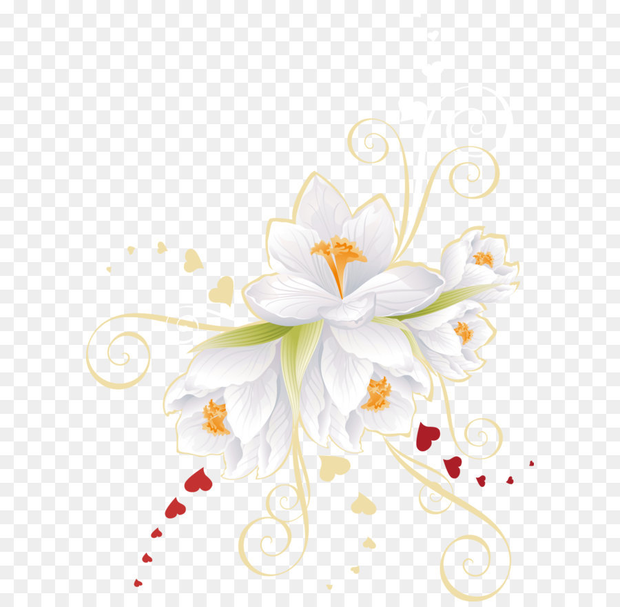 Flower Euclidean Vector Clip Art Vector White Flowers Png Download