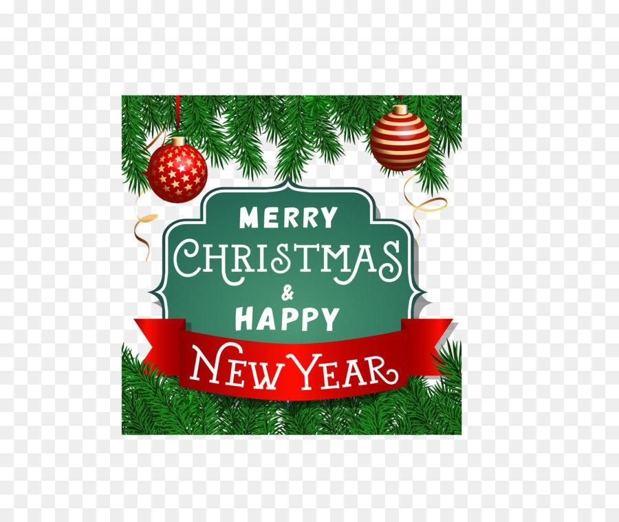 Christmas ornament Greeting card Christmas tree - Retro label cover ...