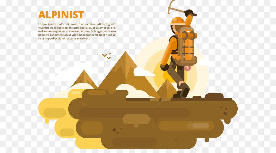Kletterausrüstung Clipart : Cartoon illustration klettern png herunterladen 4999