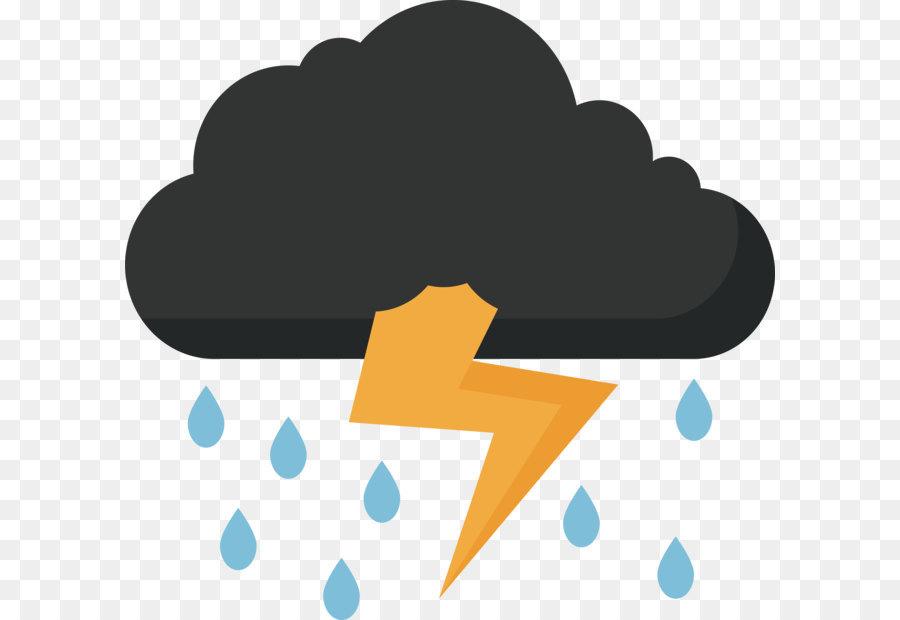 Thunder Lightning Clip Art Thunder Rain Sky 3079 2936