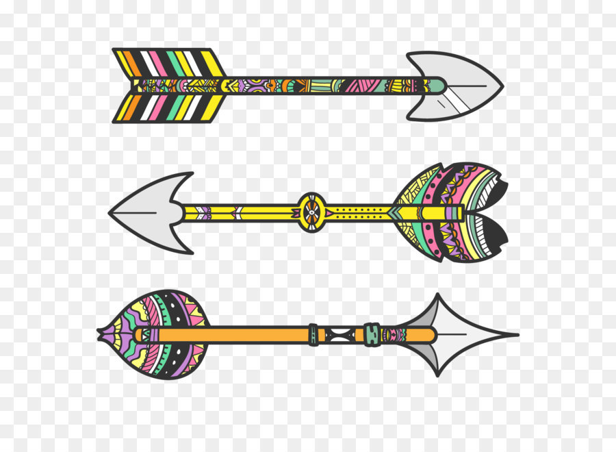 bow and arrow tribe clip art tribal vector arrows png download
