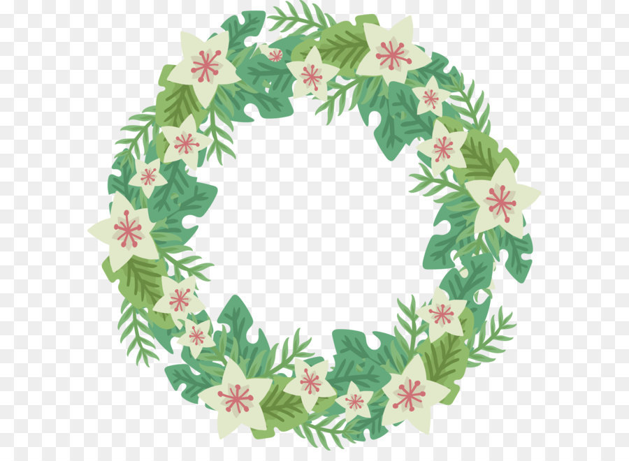 Flower Wreath Small Fresh White Flower Wreath Png Download 2677