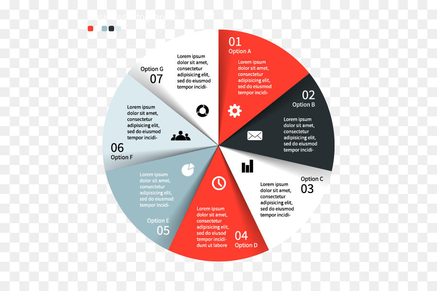 Pie Chart Infographic Business Graphics Design Flat Ui Icons