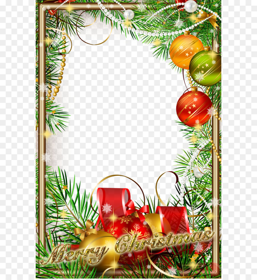 Christmas ornament New Year Christmas tree Picture frame - Green ...