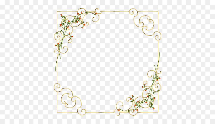 clip art elegant border of flowers and plants png