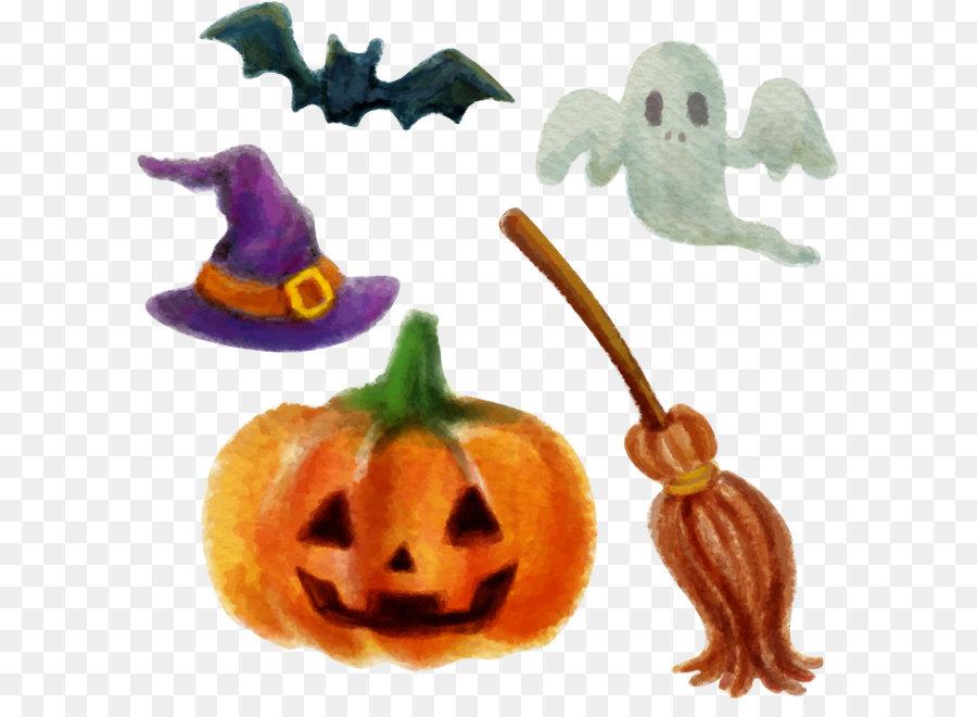 Halloween Jack-o\'-lantern Calabaza - Elementos de diseño de ...