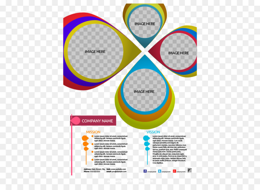 Brochure Template Download Computer File Personalized Circle