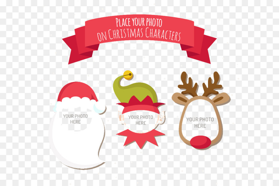 3 Christmas cartoon characters vector frame png download - 800*738 ...