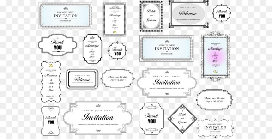 Simple invitation card title border vector png download 66164649 simple invitation card title border vector stopboris