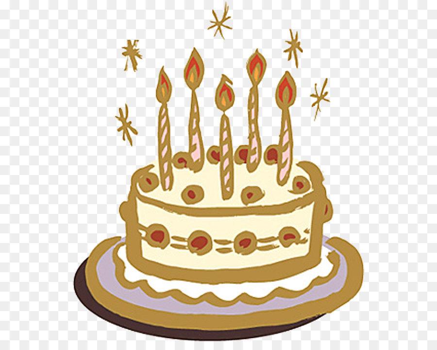 Hand Drawn Birthday Cake Png Download 600704 Free Transparent