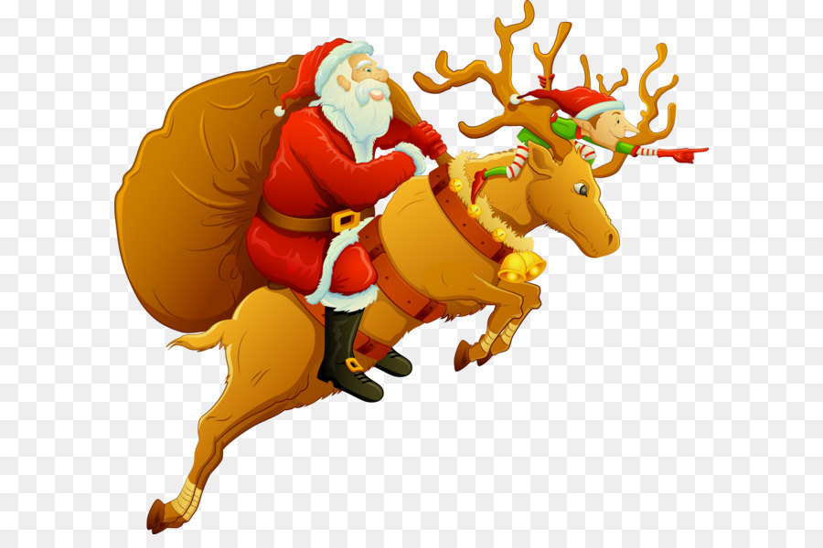 4d6be648a8de2 Santa Claus on Christmas deer png download - 1719 1547 - Free ...