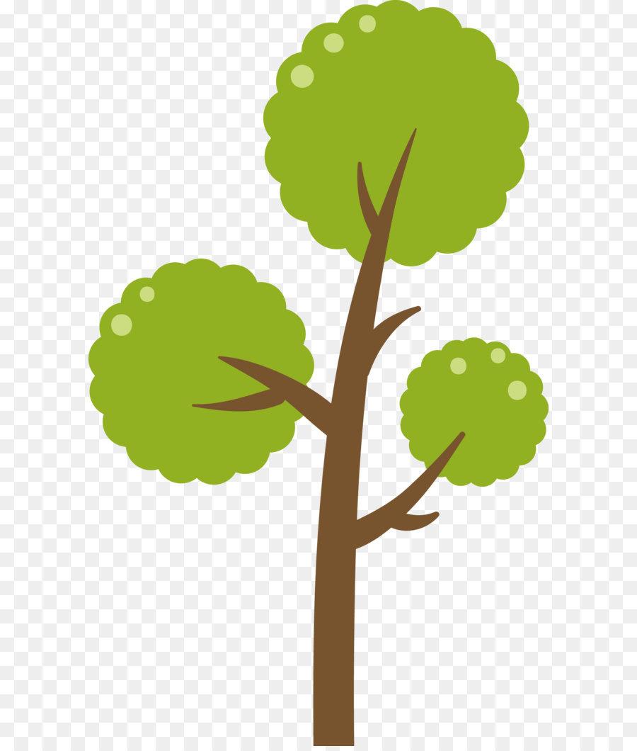 Vector Illustration Tree: Green Tree Vector Diagram Png Download