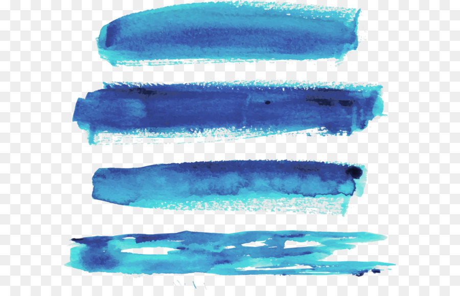 vector blue watercolor brush strokes png download