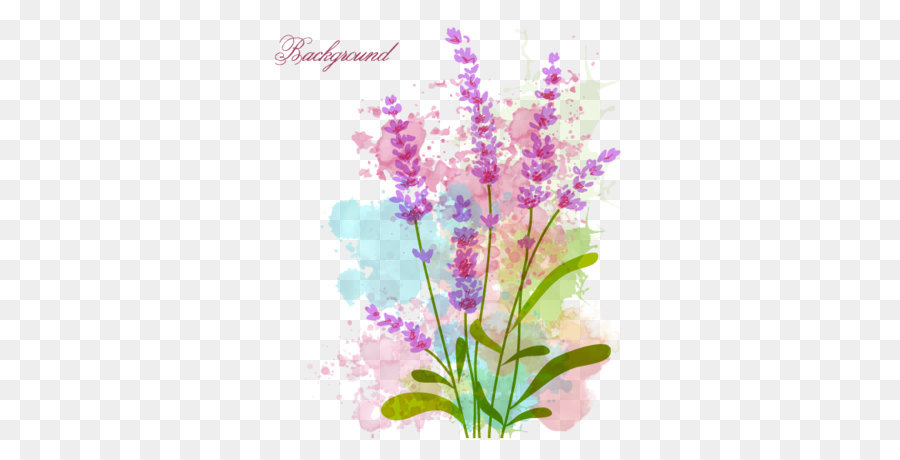 Flowers Vector Drawing Png: Watercolor Flowers Vector Material Png Download