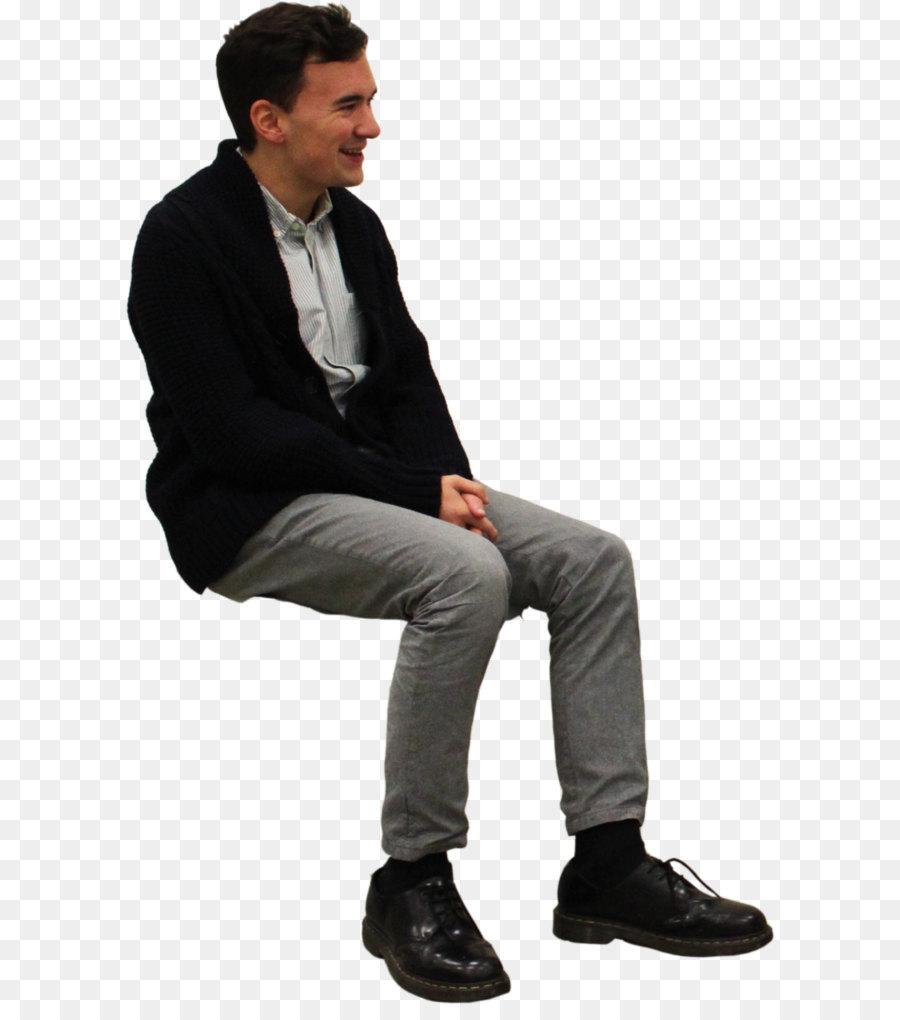 Sitting Man PNG Png Download
