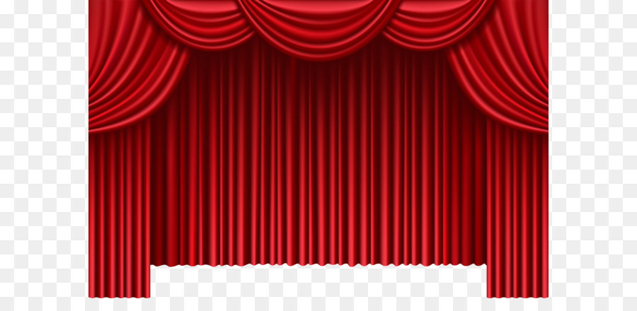 Theater Drapes And Stage Curtains Window Clip Art Red