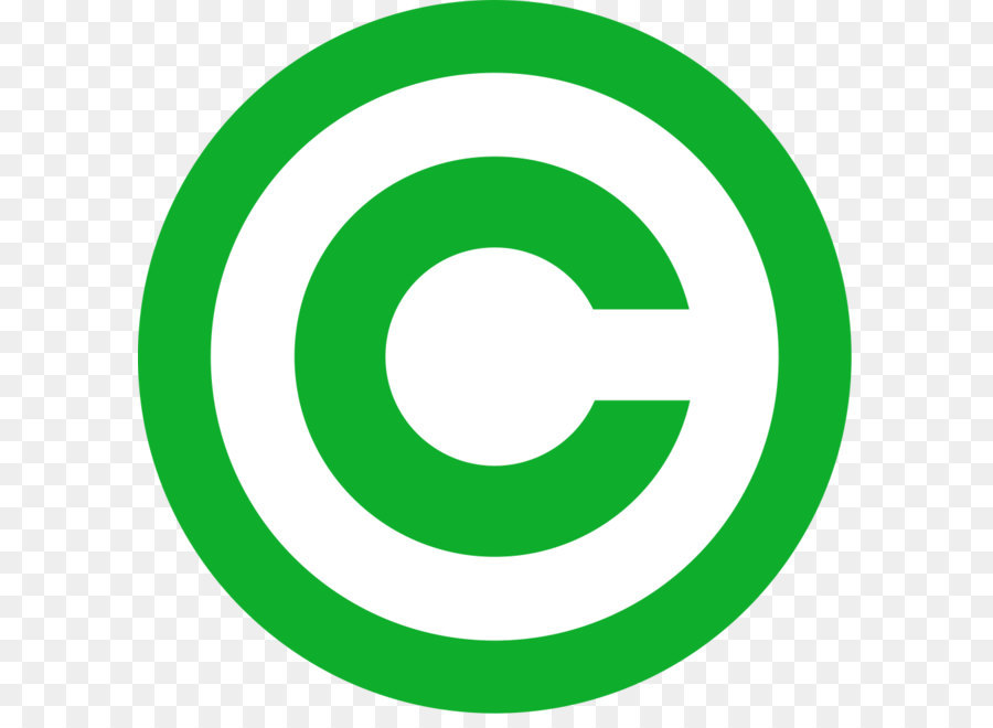 Thin copyright symbol clip art free vector in open office drawing.