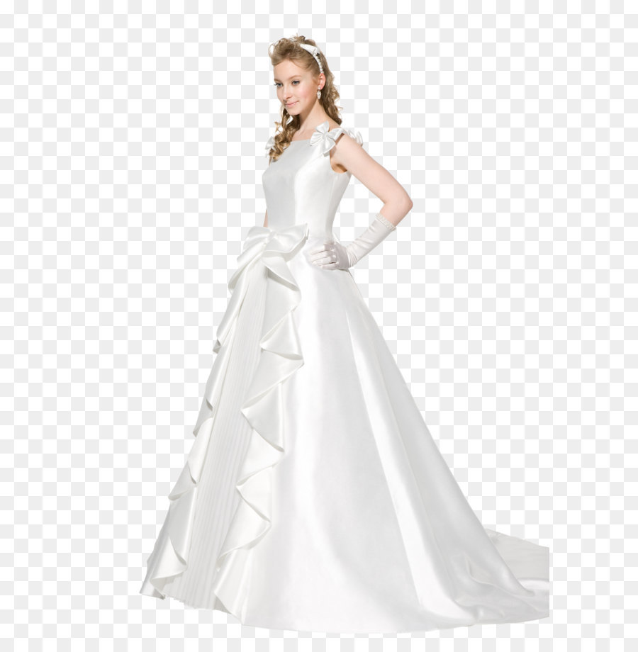 The dress Contemporary Western wedding dress - Wedding dress PNG png ...