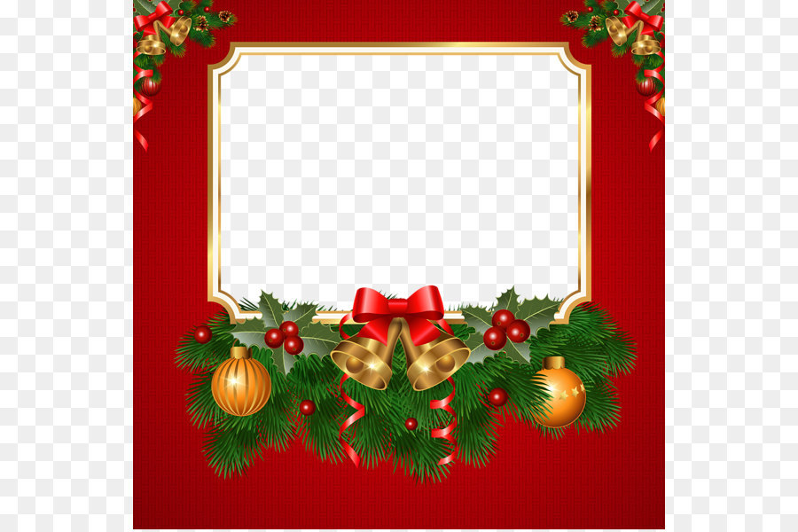 Christmas greeting card border png download - 600*597 - Free ...