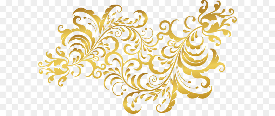 Golden Flower Plants Png Download