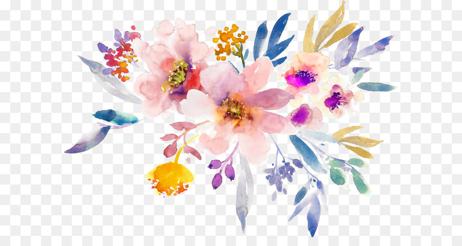 Gouache Painting Flowers Creative Png Download 14041000 Free