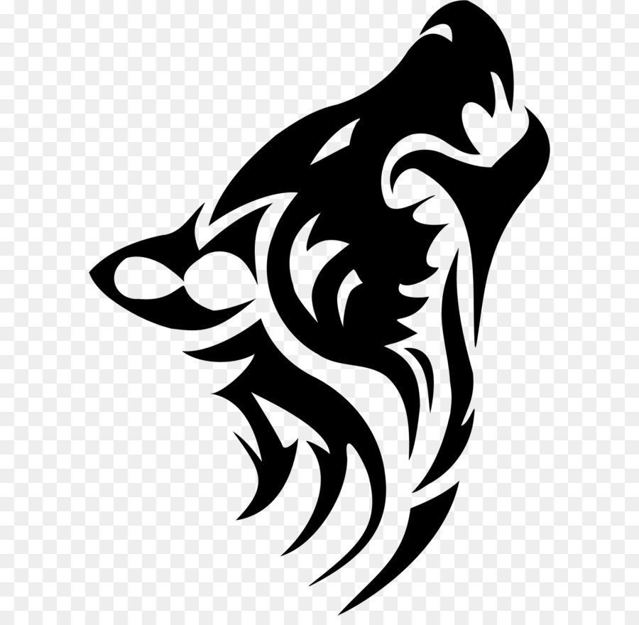 1c031cd84 Dog Tattoo Tribe Arctic wolf Clip art - Tattoo wolf PNG image png ...