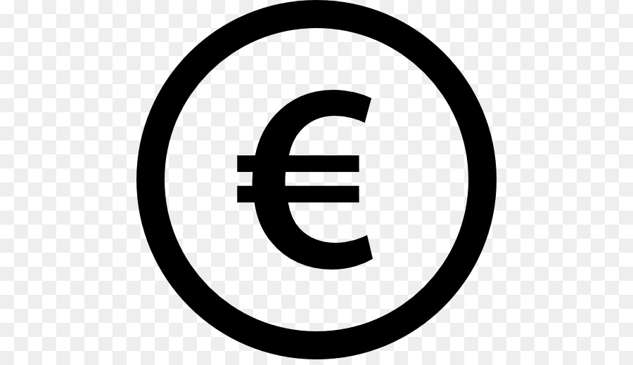 Circle Area Trademark Black And White Voucher Euro Sign Png Png