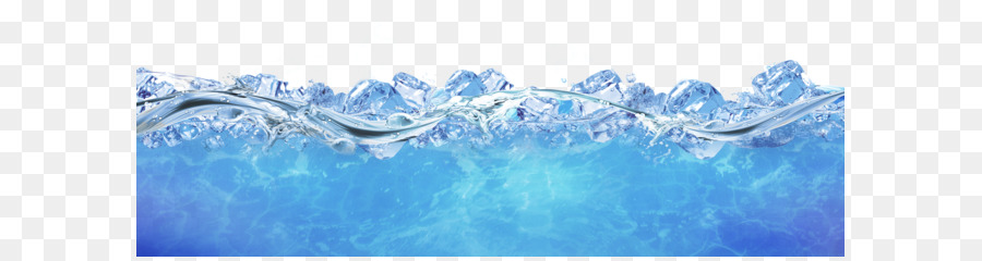 Blue ice floats on the water frame texture png download - 5104*1856 ...