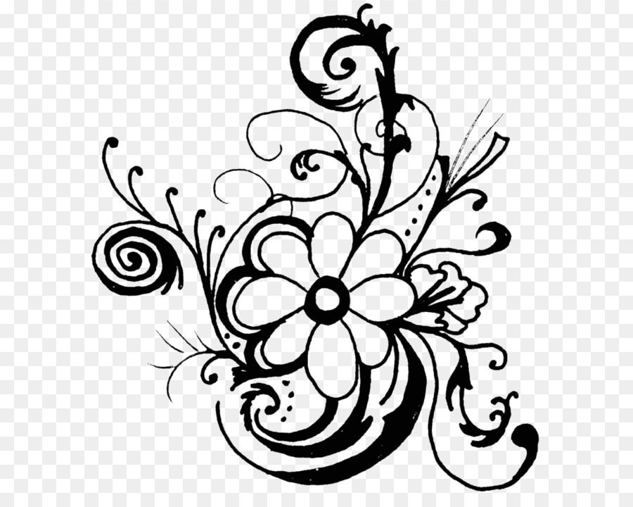 flower black and white floral design clip art flower