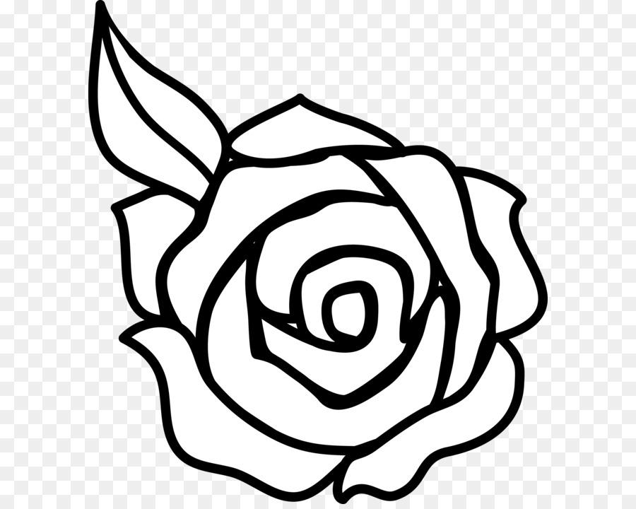 Rose outline drawing clip art rose clip art