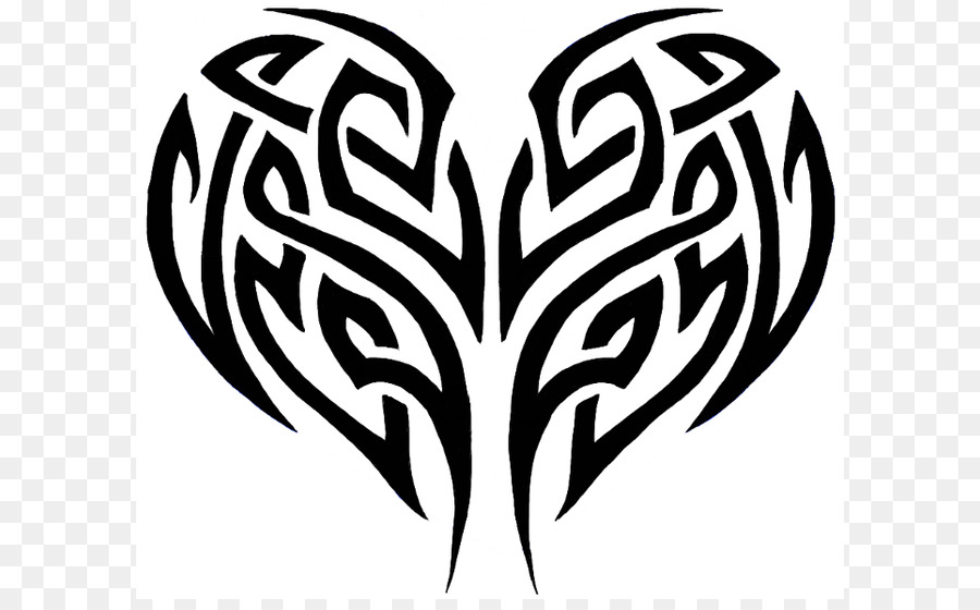 tattoo heart tribe clip art cool heart designs to draw png rh kisspng com Really Cool Heart Drawings cool heart designs to draw easy