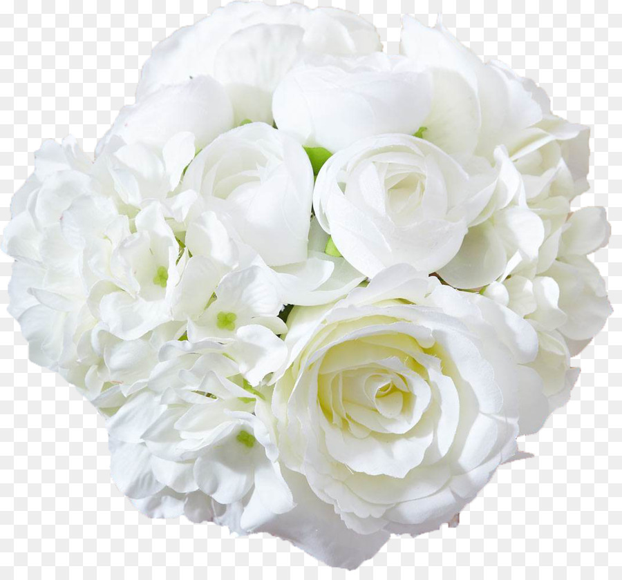 Garden Roses Flower Bouquet   White Roses